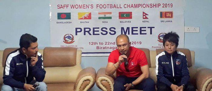 आजदेखि पाँचौं साफ महिला फुटबल सुरु, नेपाल र भुटान भिड्दै
