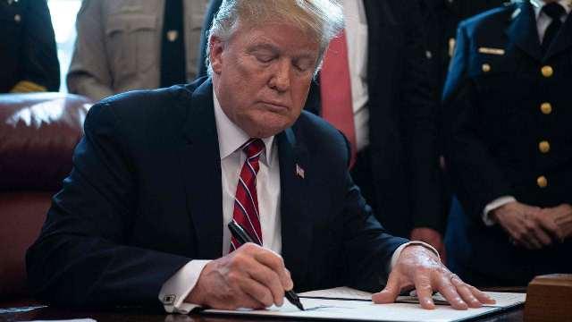 trump uses veto
