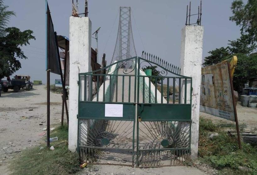 कंचनपुरको झोलुङ्गे पुलमा ताला