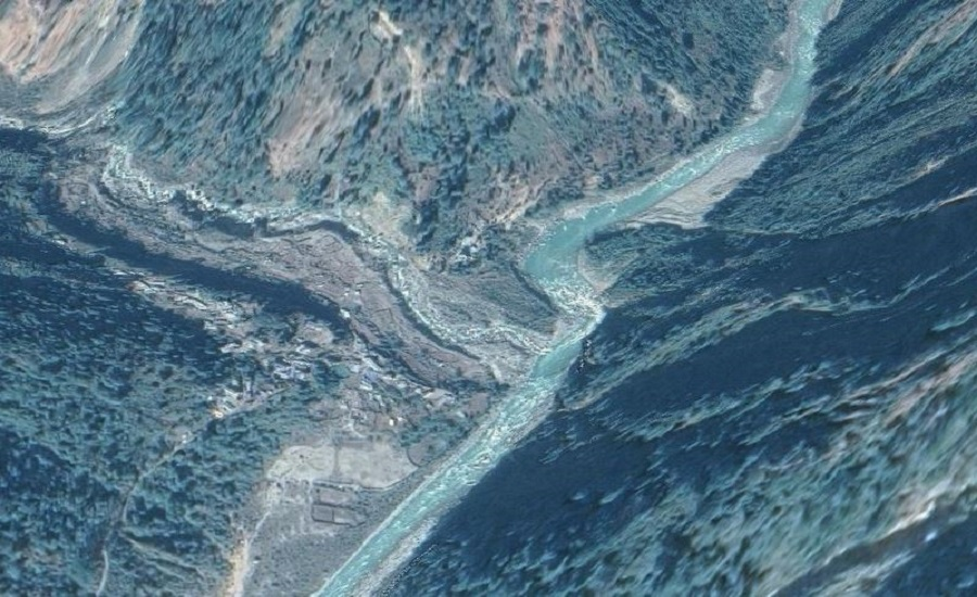 बुढीगण्डकीको सहायक नदी नौलीखोला थुनियोः ६० घर उच्च जोखिममा